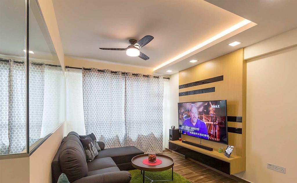 Contemporary, HDB, Living Room, Boon Lay Drive, Interior Designer, ID Gallery Interior