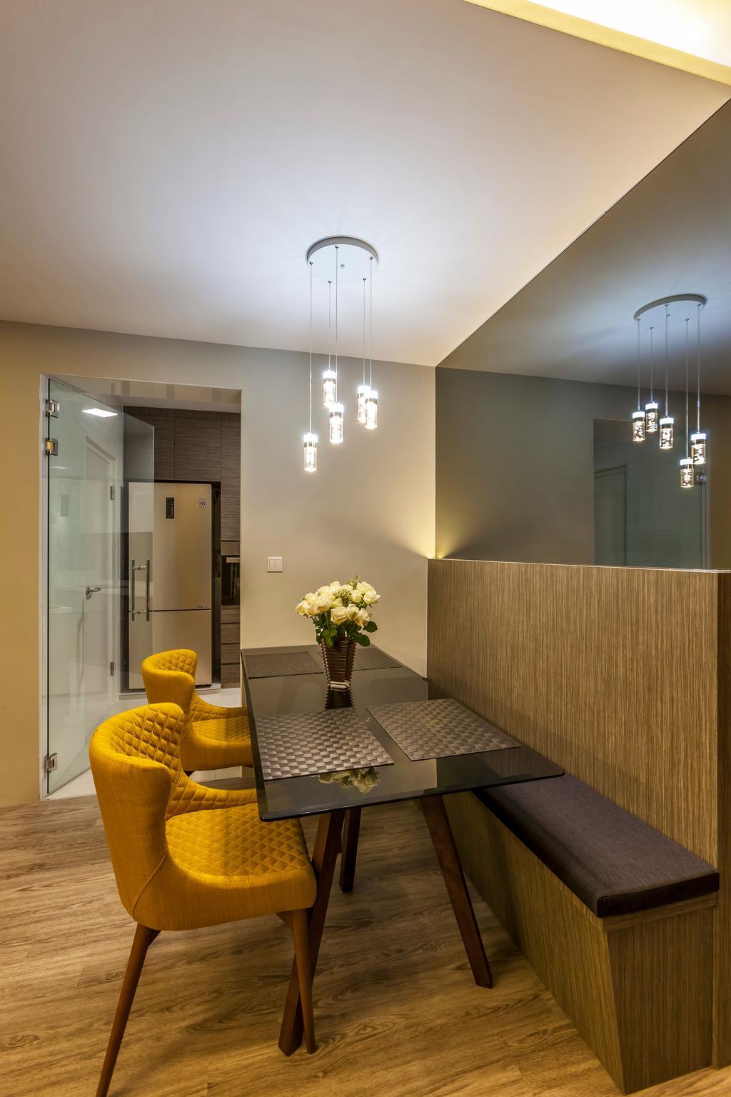 Contemporary, HDB, Dining Room, Edgedale Plains, Interior Designer, Rhiss Interior, Scandinavian