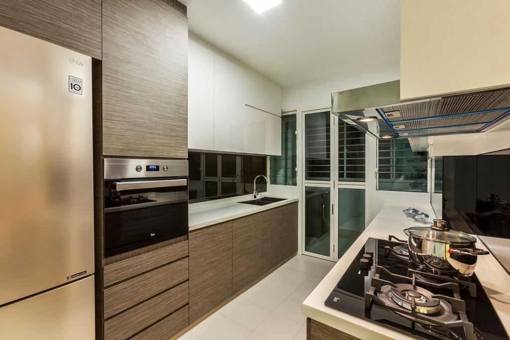 Contemporary, HDB, Kitchen, Edgedale Plains, Interior Designer, Rhiss Interior, Scandinavian