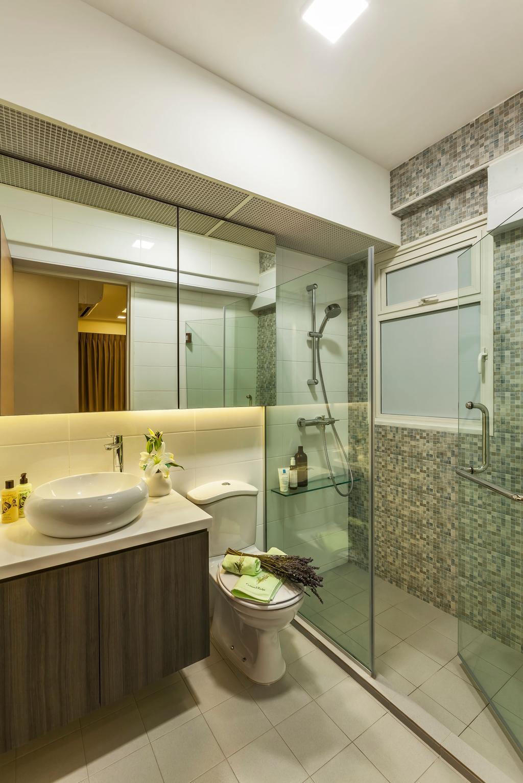 Contemporary, HDB, Bathroom, Edgedale Plains, Interior Designer, Rhiss Interior, Scandinavian