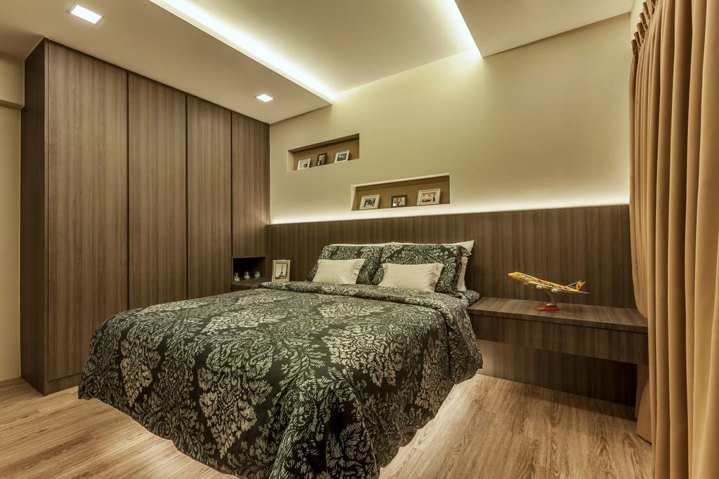 Contemporary, HDB, Bedroom, Edgedale Plains, Interior Designer, Rhiss Interior, Scandinavian