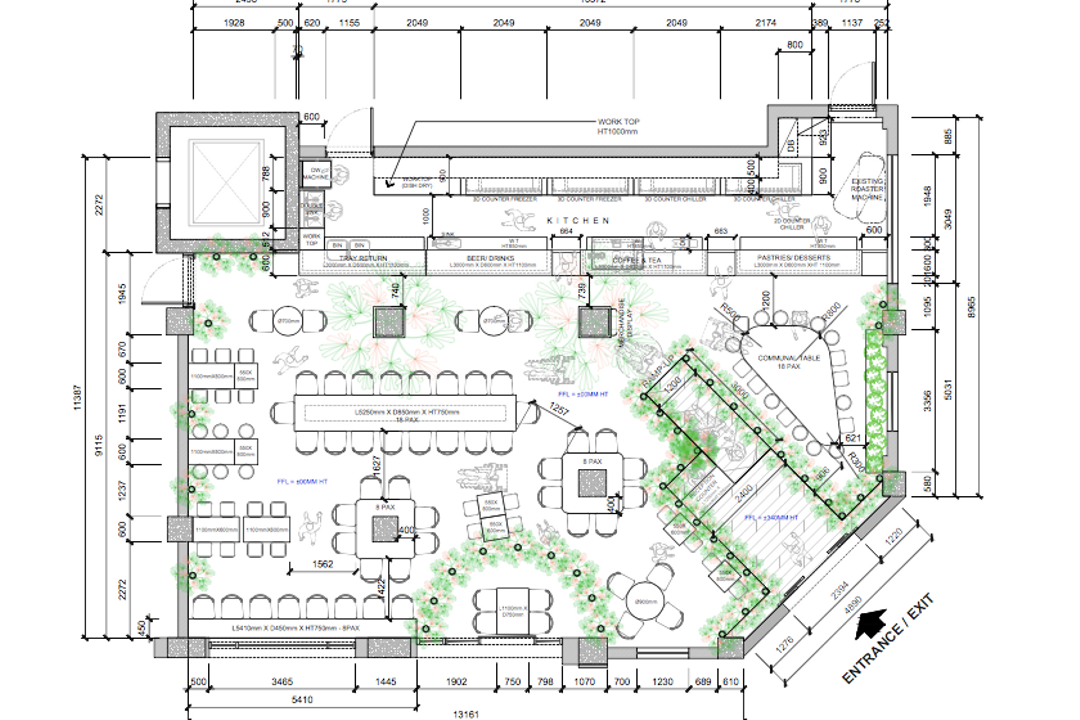 Maxwell Road, Gridline Design Lab, Eclectic, Commercial, Commercial Floorplan, Final Floorplan