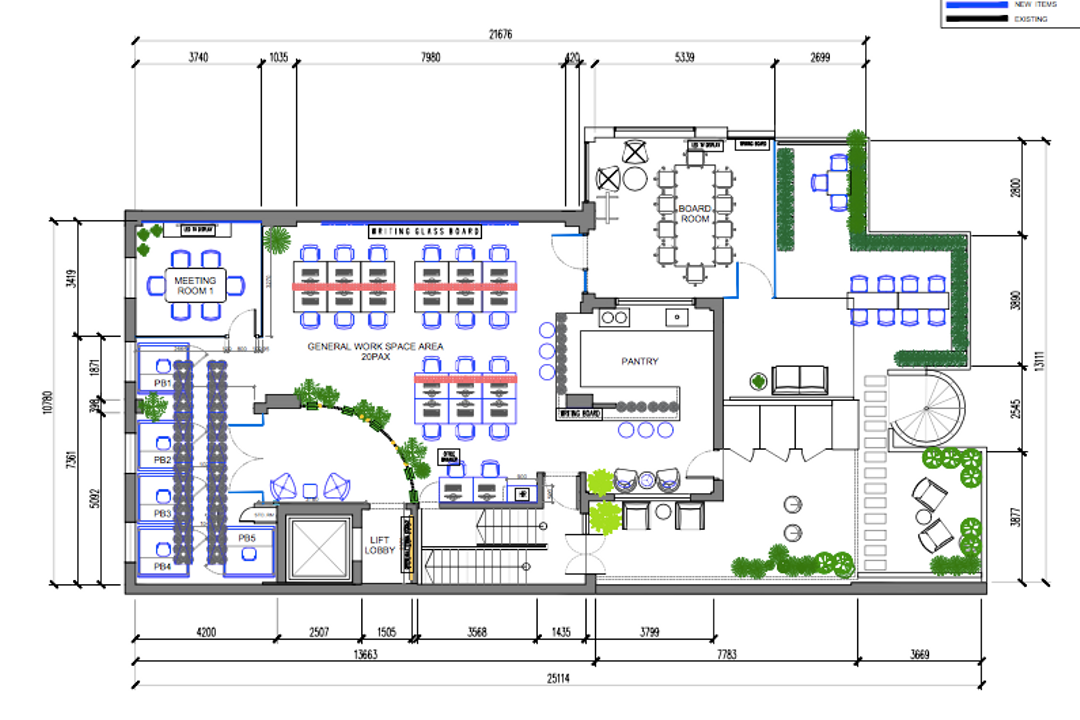 Tanjong Pagar Road, Gridline Design Lab, Contemporary, Commercial, Commercial Floorplan, Final Floorplan