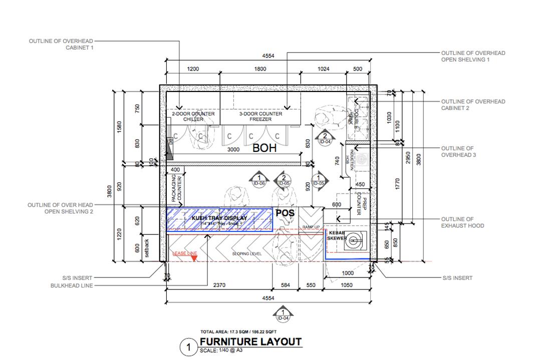Yishun Avenue 2, Gridline Design Lab, Contemporary, Commercial, Commercial Floorplan, Final Floorplan