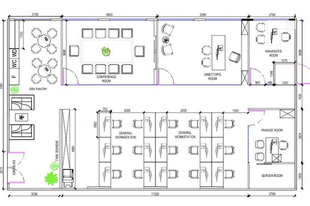 Raffles Place, Eight Design, Contemporary, Commercial, Commercial Foorplan, Final Floorplan