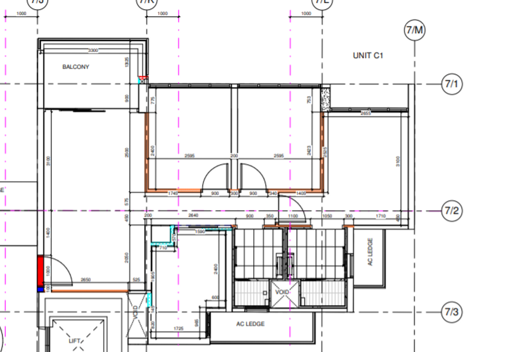 Rivercove Residences, Design Story, Contemporary, Condo, 3 Bedder Condo Floorplan, Unit C 1, Original Floorplan