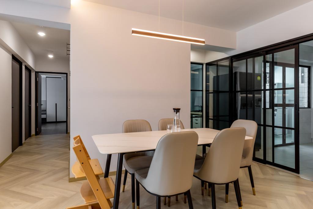 Contemporary, HDB, Dining Room, Segar Road, Interior Designer, Ataz Haus Interior Design, Scandinavian