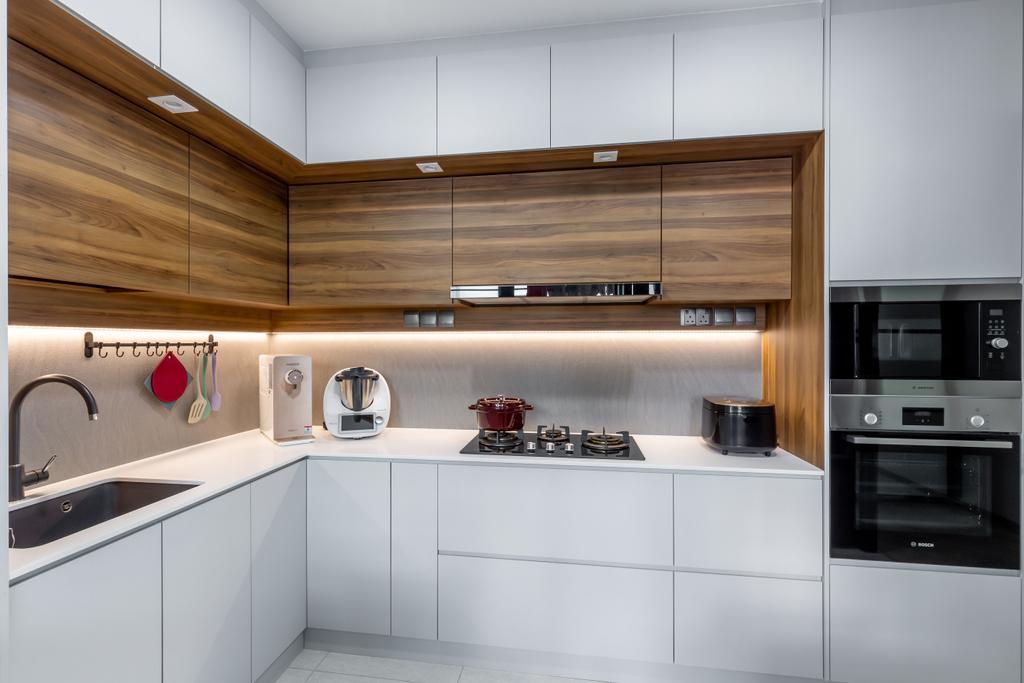 Contemporary, HDB, Kitchen, Segar Road, Interior Designer, Ataz Haus Interior Design, Scandinavian