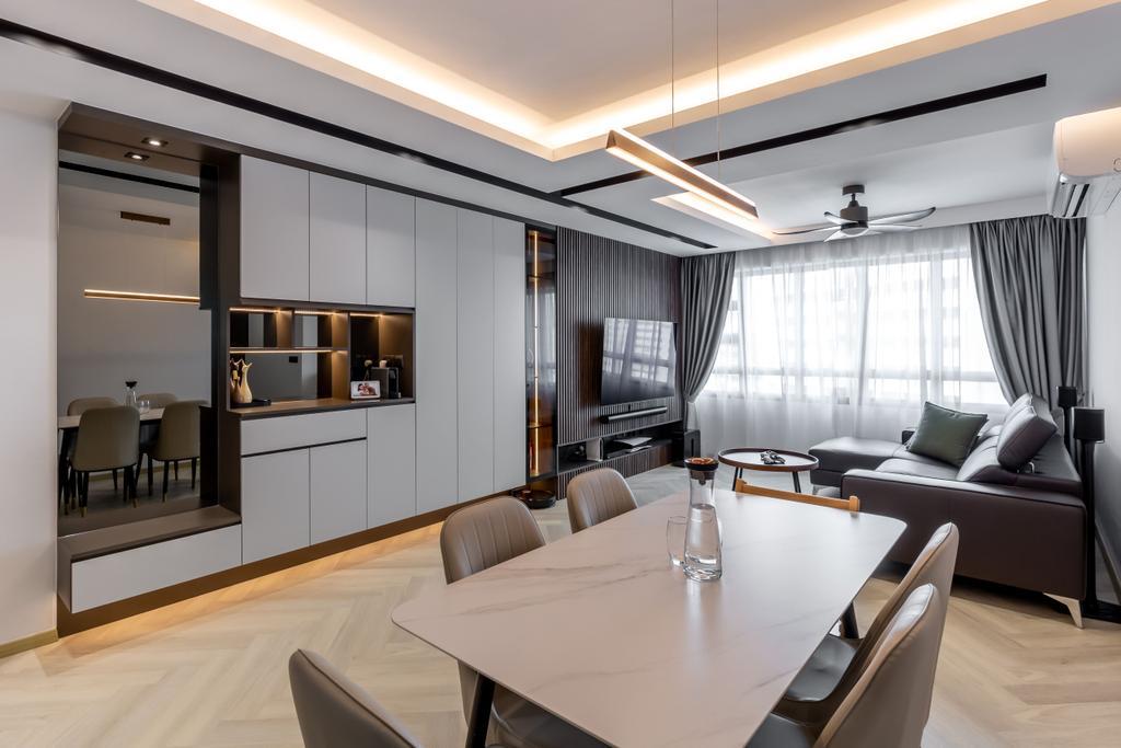 Contemporary, HDB, Living Room, Segar Road, Interior Designer, Ataz Haus Interior Design, Scandinavian
