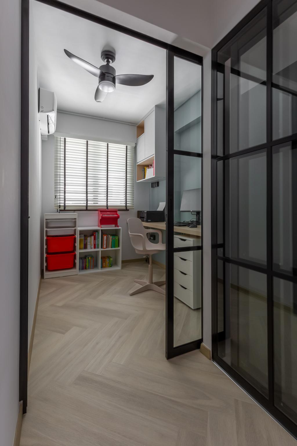 Contemporary, HDB, Study, Segar Road, Interior Designer, Ataz Haus Interior Design, Scandinavian
