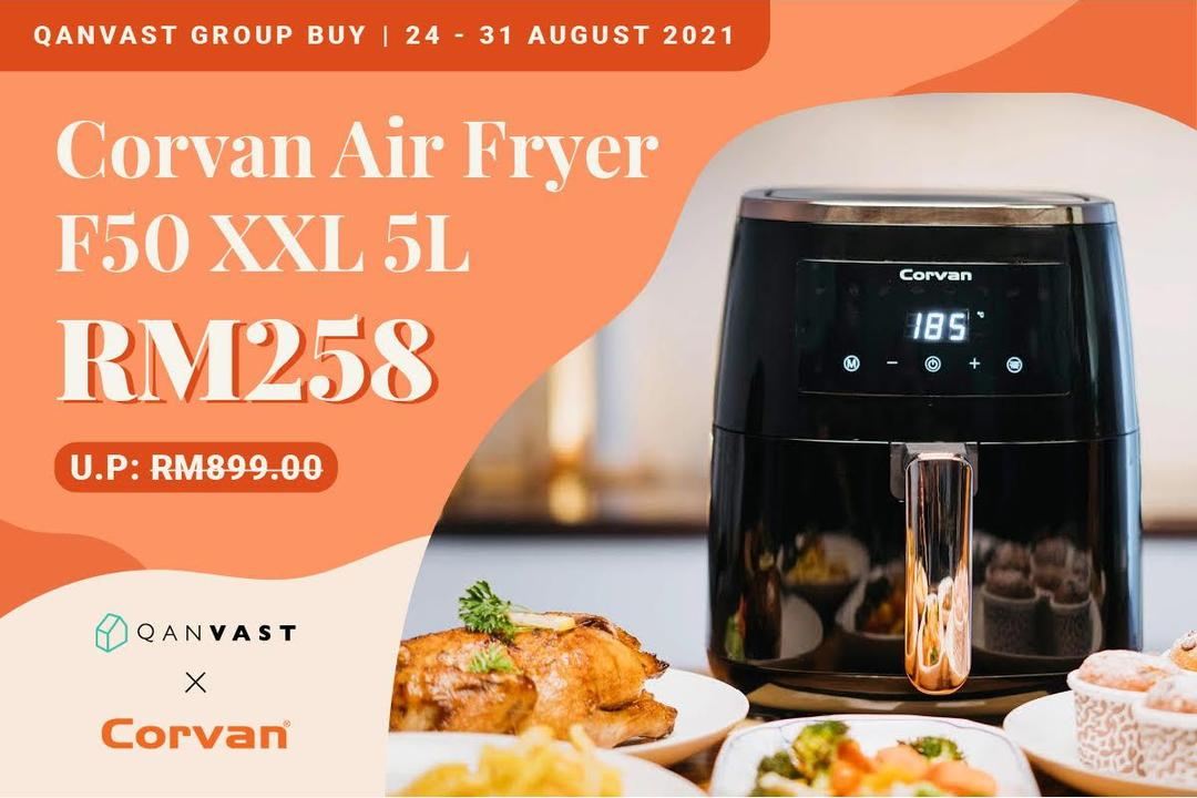 Qanvast X Corvan Group Buy: Air Fryer F50 For Only RM258! 10