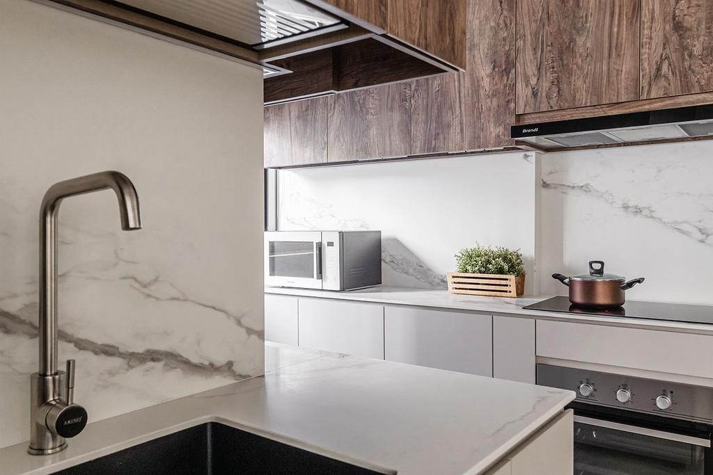 Scandinavian, HDB, Kitchen, Bidadari Park Drive, Interior Designer, Noble Interior Design, Contemporary