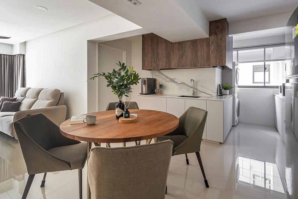 Scandinavian, HDB, Dining Room, Bidadari Park Drive, Interior Designer, Noble Interior Design, Contemporary