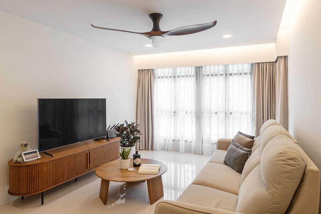 Scandinavian, HDB, Living Room, Bidadari Park Drive, Interior Designer, Noble Interior Design, Contemporary