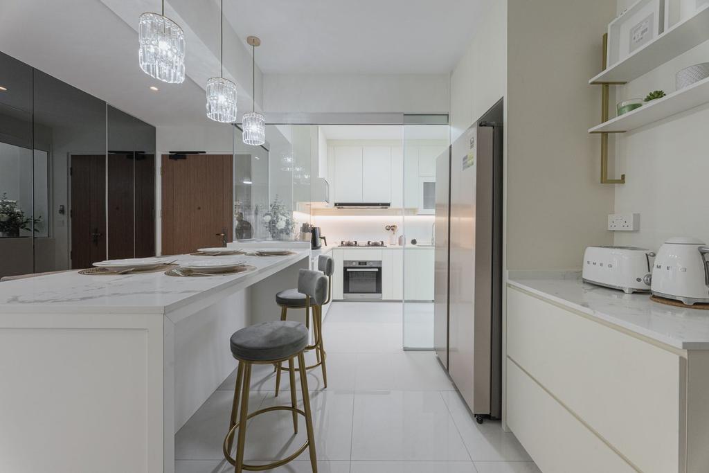 Contemporary, HDB, Tampines Street 61, Interior Designer, Todz'Terior, Scandinavian