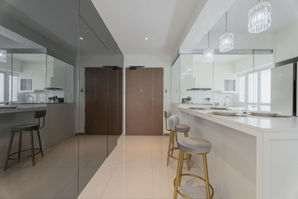 Contemporary, HDB, Dining Room, Tampines Street 61, Interior Designer, Todz'Terior, Scandinavian