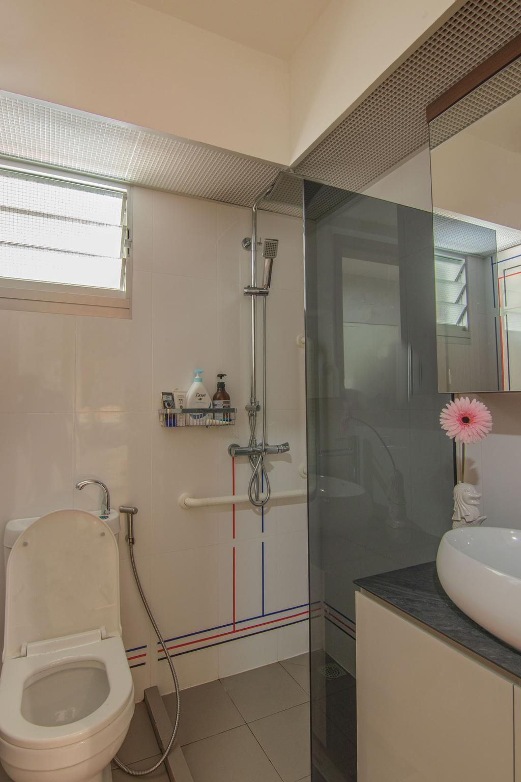 Contemporary, HDB, Bathroom, Bedok South Road, Interior Designer, 9 Creation