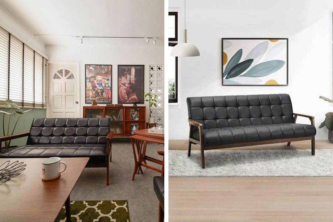 Shopee Qanvast Picks Tucson 3-Seater Sofa Solid Wood