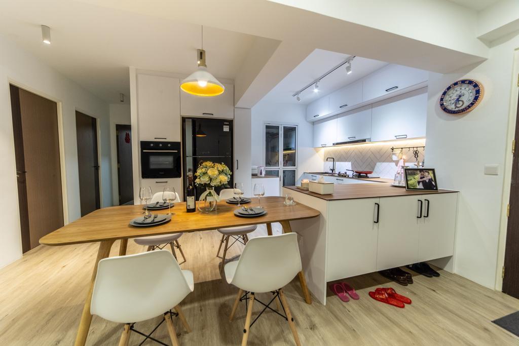 Contemporary, HDB, Dining Room, Compassvale Crescent, Interior Designer, Builders Plus, Scandinavian