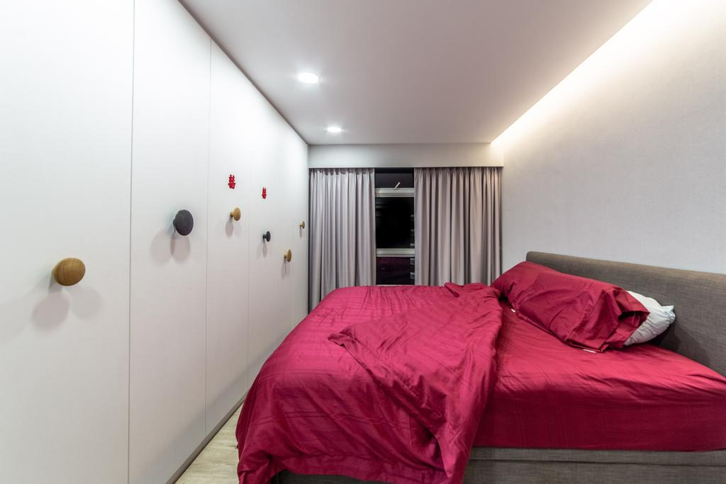 Contemporary, HDB, Bedroom, Compassvale Crescent, Interior Designer, Builders Plus, Scandinavian