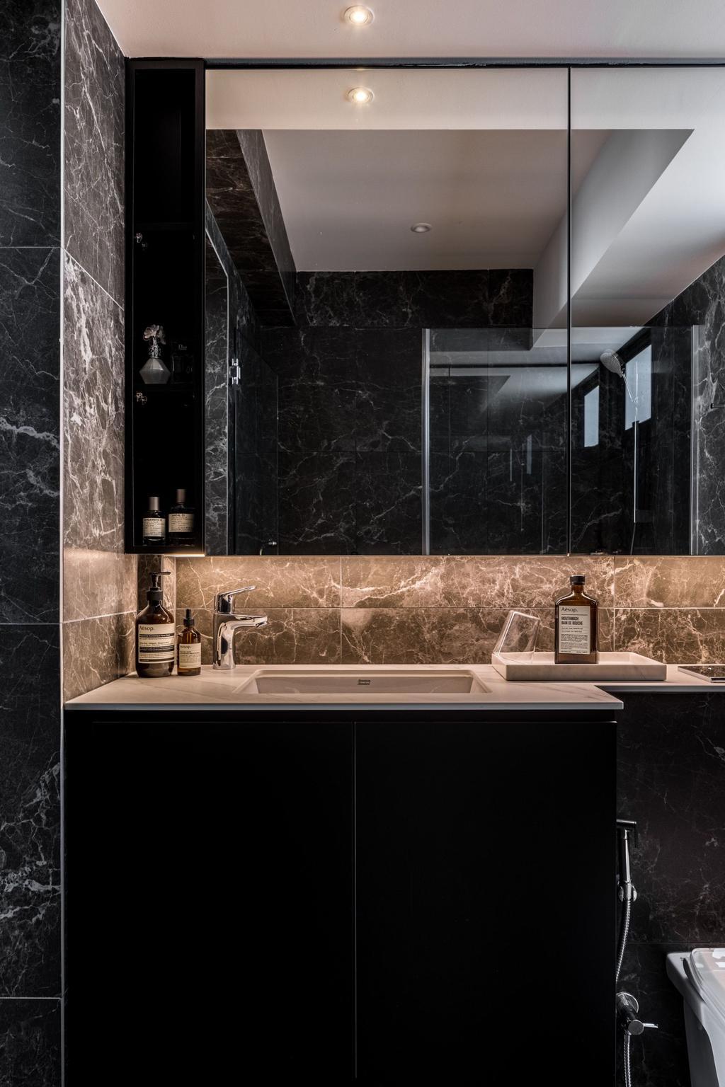 Contemporary, HDB, Bathroom, Northshore Drive, Interior Designer, The Local INN.terior 新家室