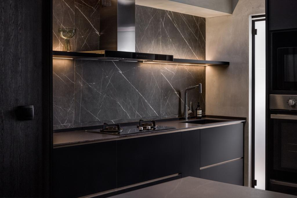 Contemporary, HDB, Kitchen, Northshore Drive, Interior Designer, The Local INN.terior 新家室
