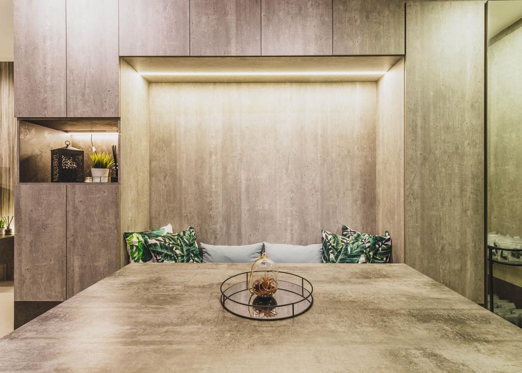 Contemporary, Condo, Dining Room, Watercolours, Interior Designer, Chapter 3