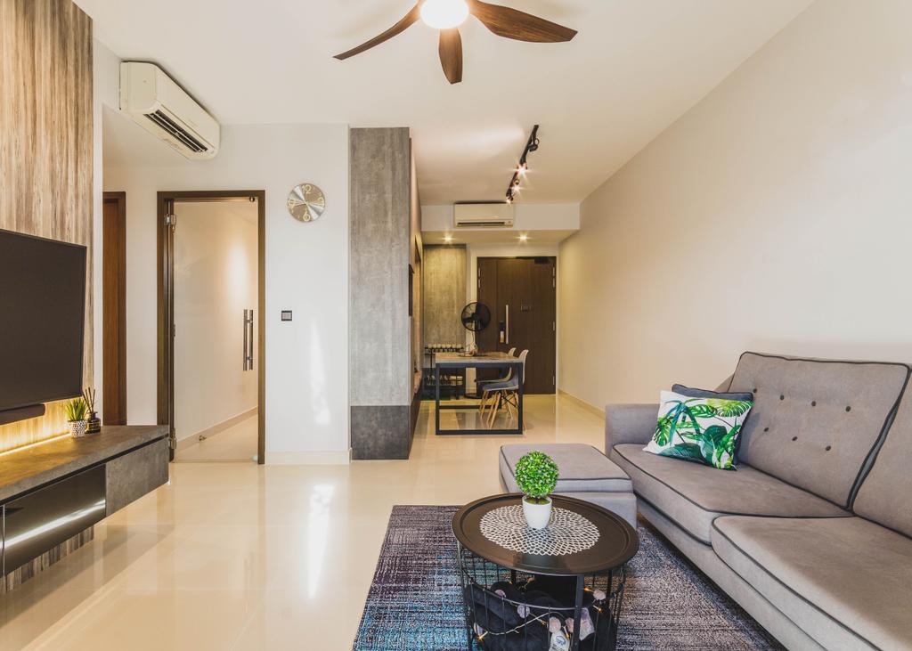 Contemporary, Condo, Living Room, Watercolours, Interior Designer, Chapter 3