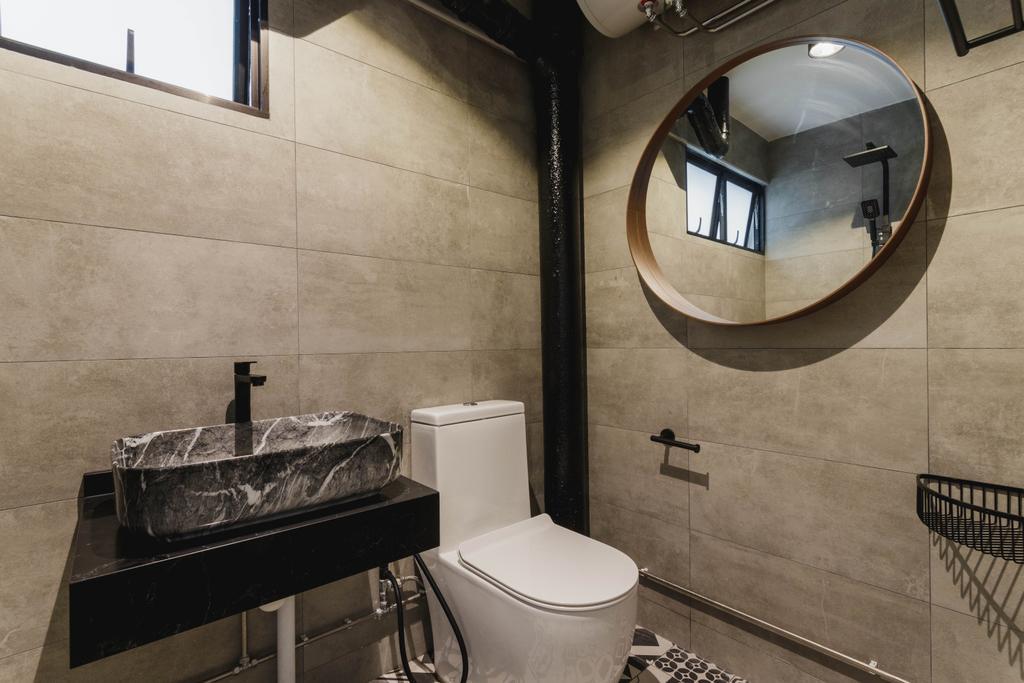 Contemporary, HDB, Bathroom, Ubi Avenue 1, Interior Designer, Chapter 3