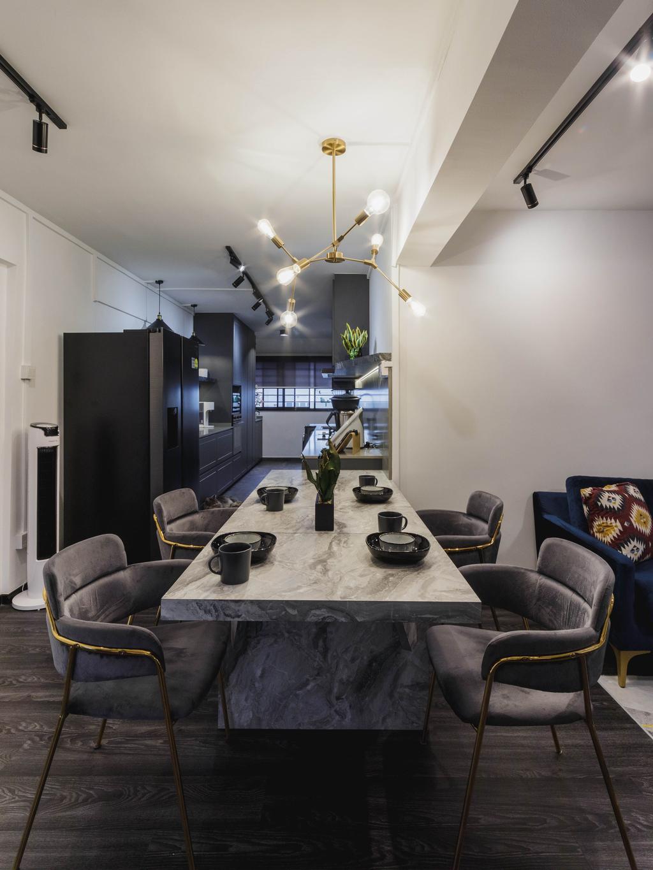 Contemporary, HDB, Dining Room, Ubi Avenue 1, Interior Designer, Chapter 3