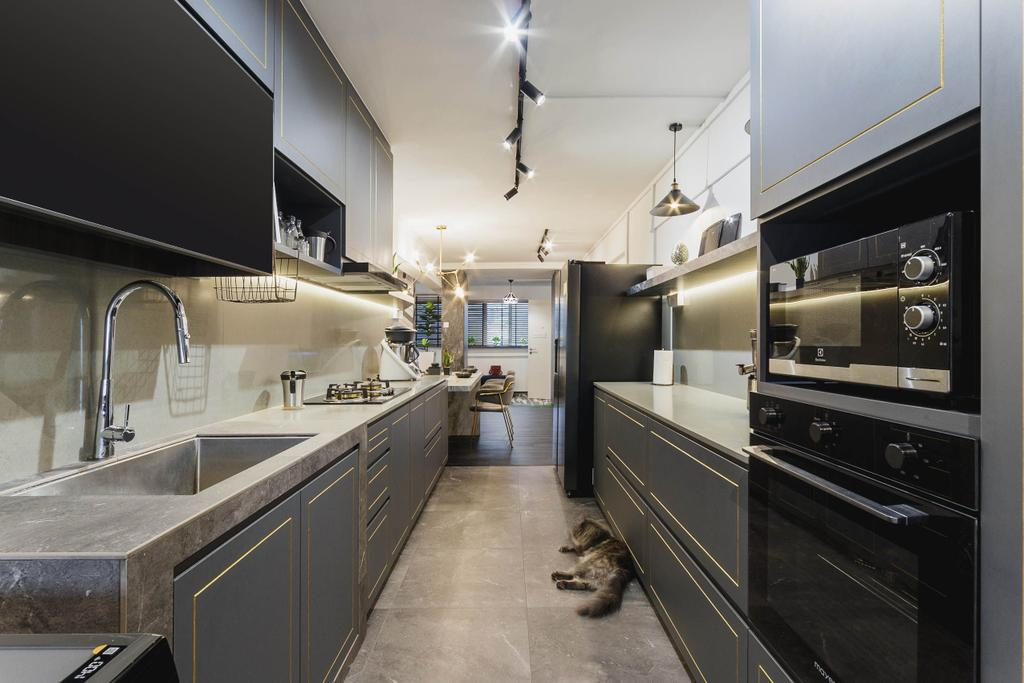 Contemporary, HDB, Kitchen, Ubi Avenue 1, Interior Designer, Chapter 3