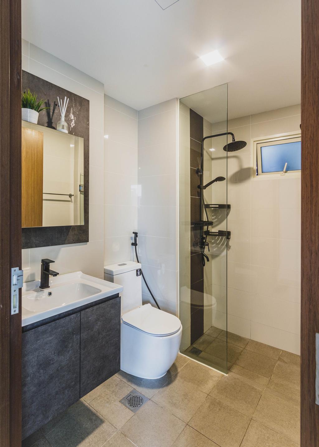 Contemporary, Condo, Bathroom, Watercolours, Interior Designer, Chapter 3