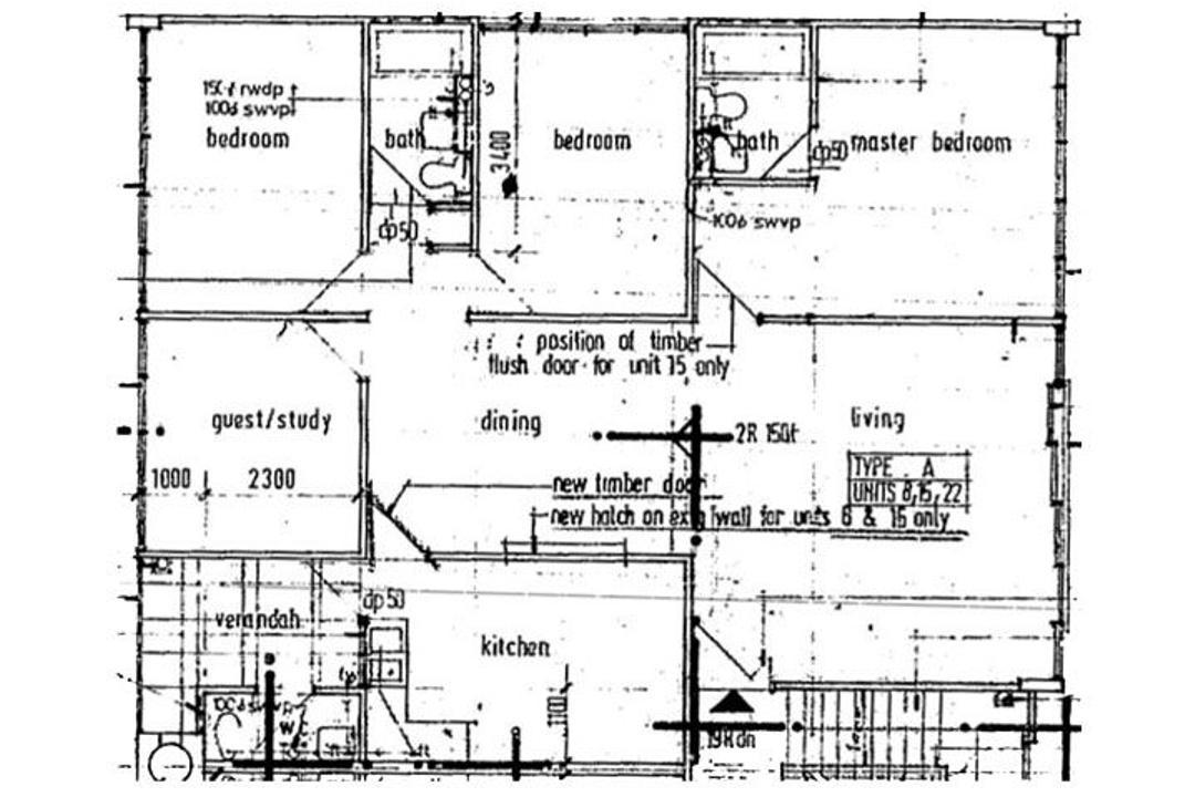 Cambridge Village, New Chapter Design.com, Modern, Contemporary, Condo, 3 Bedder Condo Floorplan, Original Floorplan