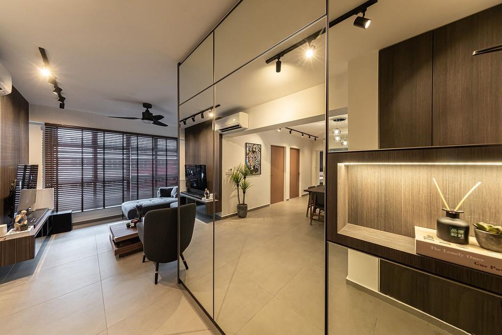 Contemporary, HDB, Living Room, Bedok South Road, Interior Designer, Noble Interior Design