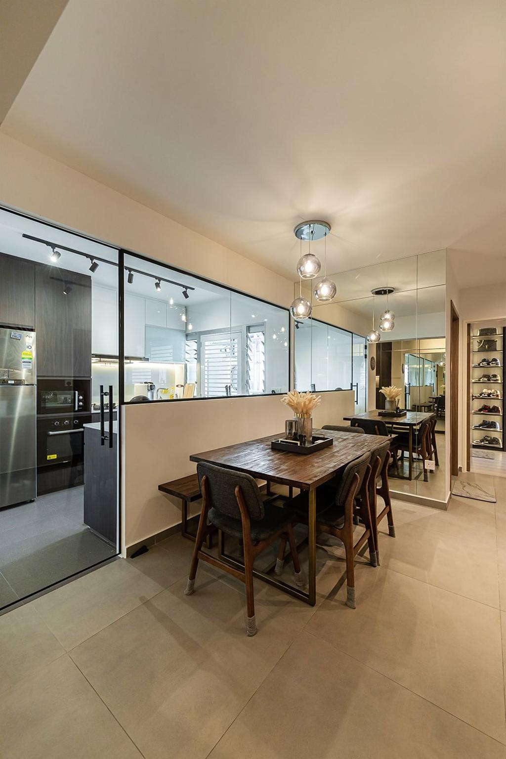 Contemporary, HDB, Dining Room, Bedok South Road, Interior Designer, Noble Interior Design