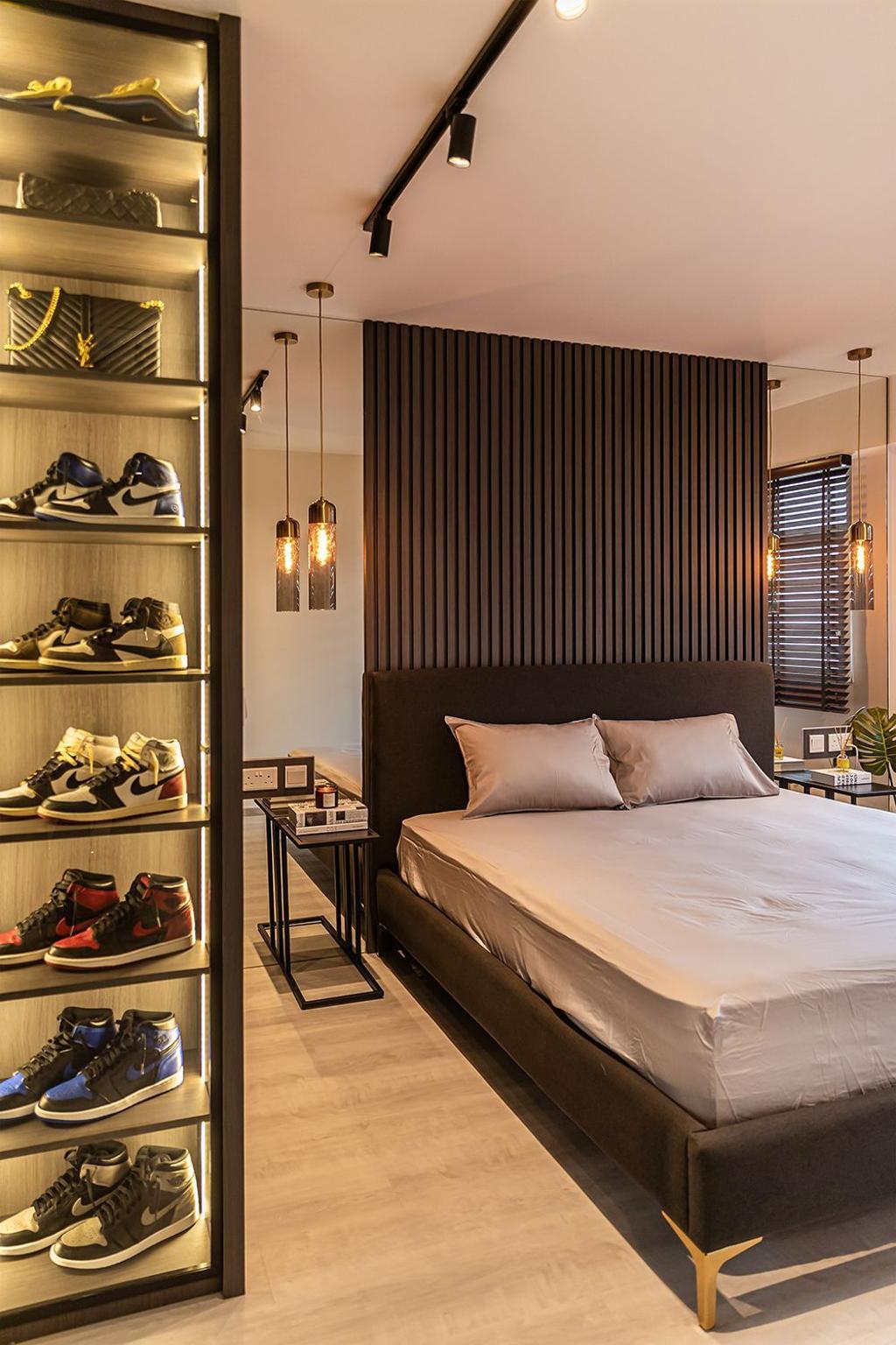 Contemporary, HDB, Bedroom, Bedok South Road, Interior Designer, Noble Interior Design