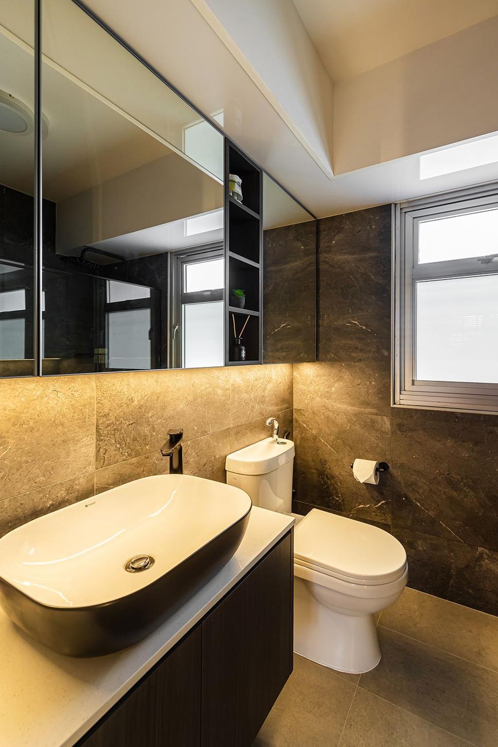 Contemporary, HDB, Bathroom, Bedok South Road, Interior Designer, Noble Interior Design