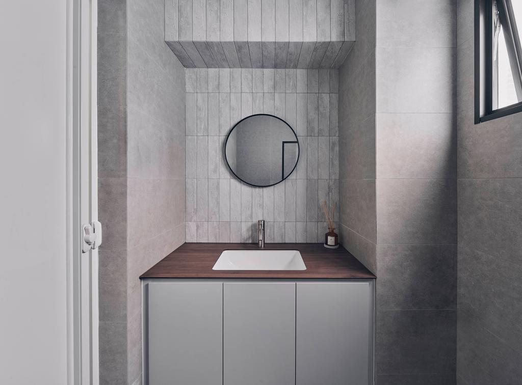 Contemporary, HDB, Bathroom, Hougang Street 91, Interior Designer, Charlotte's Carpentry