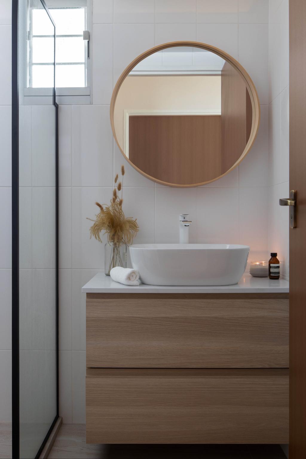 Scandinavian, HDB, Bathroom, Chai Chee Road, Interior Designer, A Blue Cube Design