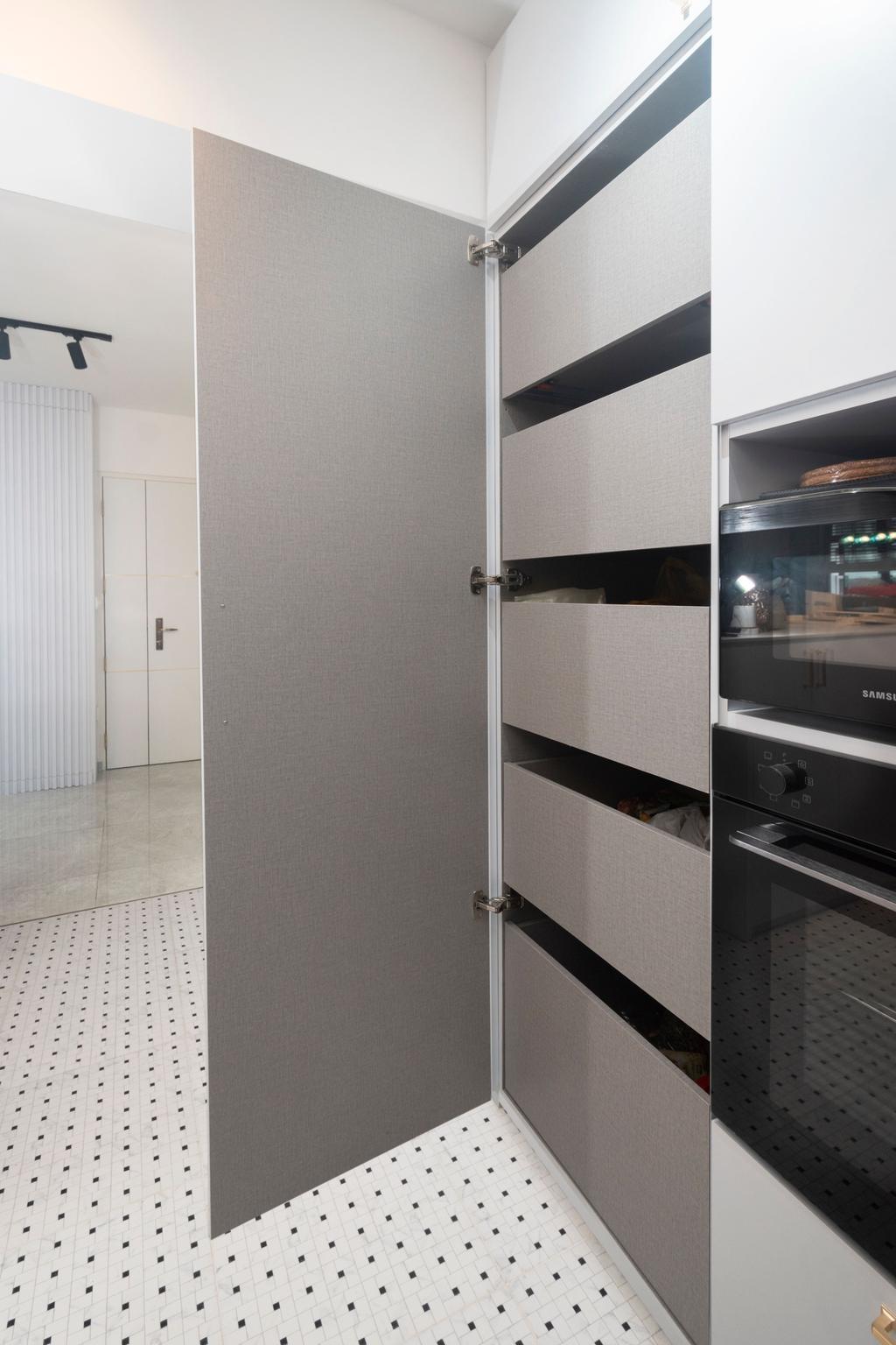 Contemporary, HDB, Kitchen, Northshore Drive, Interior Designer, Honeycomb Design Studio
