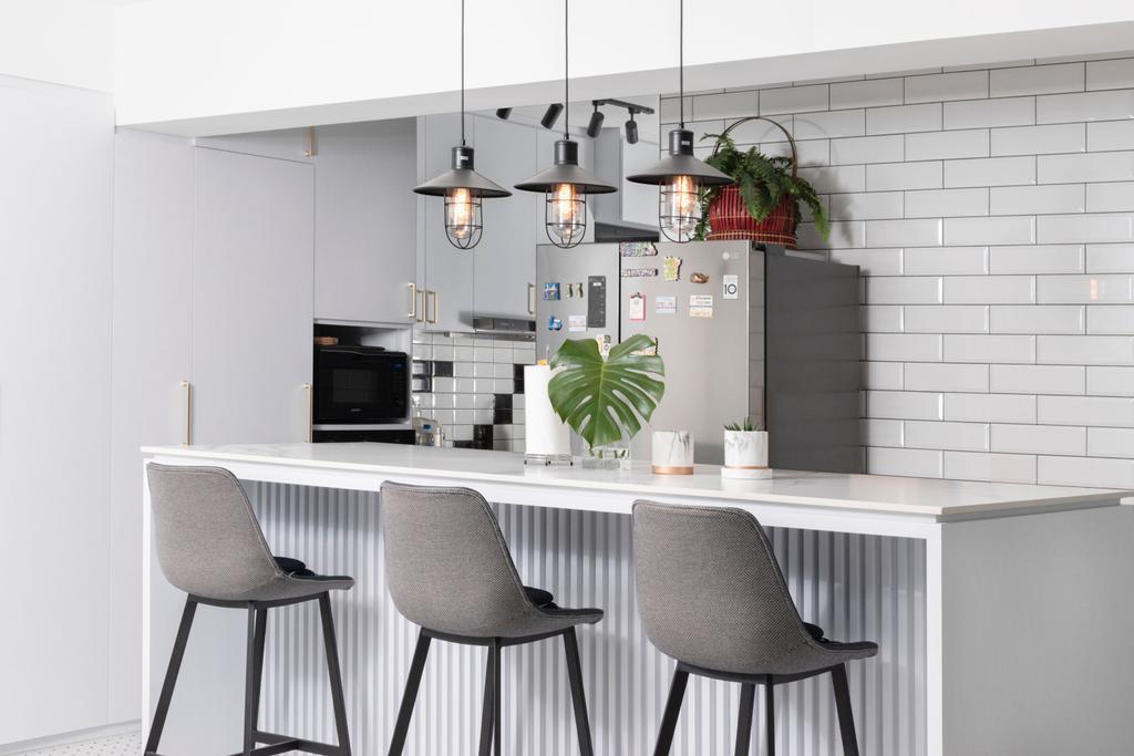 Contemporary, HDB, Dining Room, Northshore Drive, Interior Designer, Honeycomb Design Studio