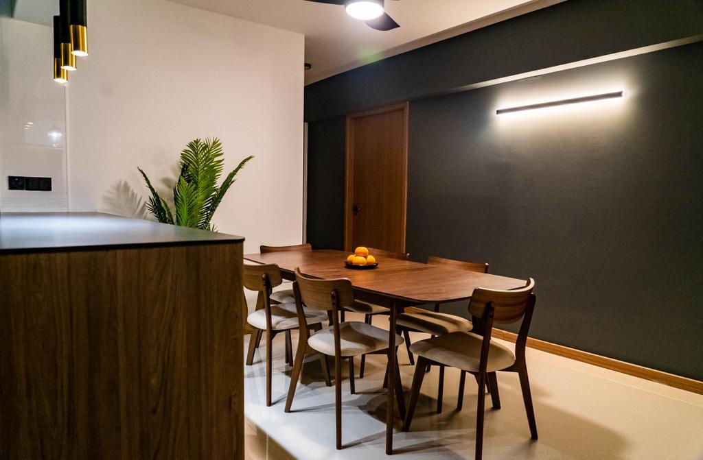 Contemporary, HDB, Dining Room, Bukit Batok West Avenue 8, Interior Designer, Kingsley Interior