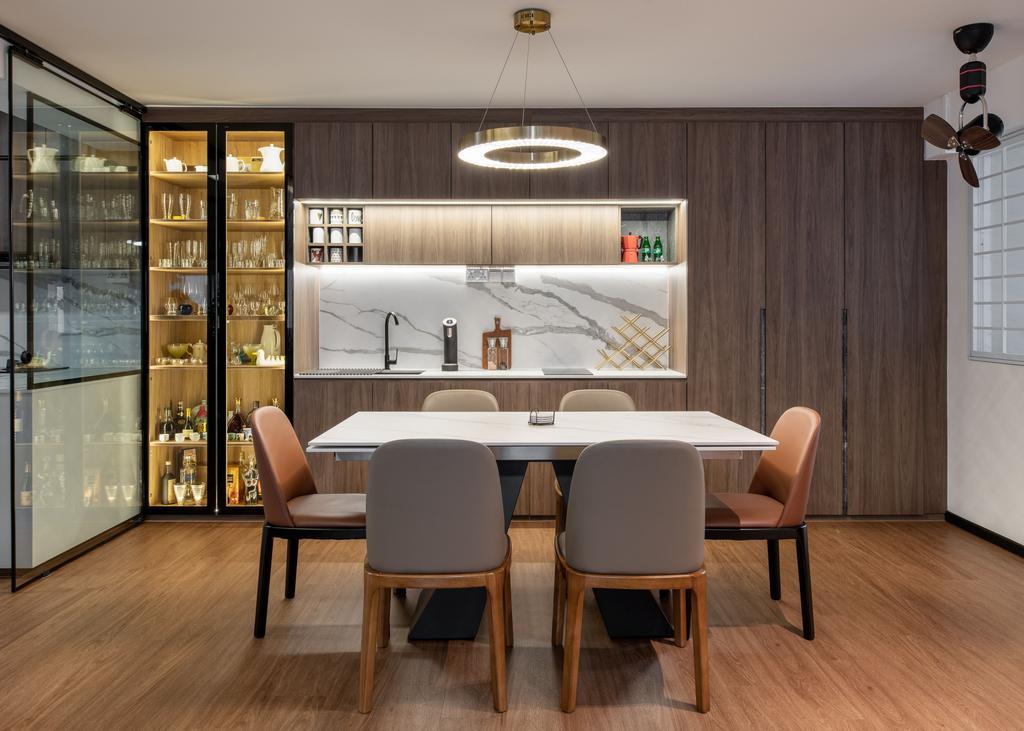 Contemporary, HDB, Dining Room, Hougang Avenue 1, Interior Designer, Mr Designer Studio