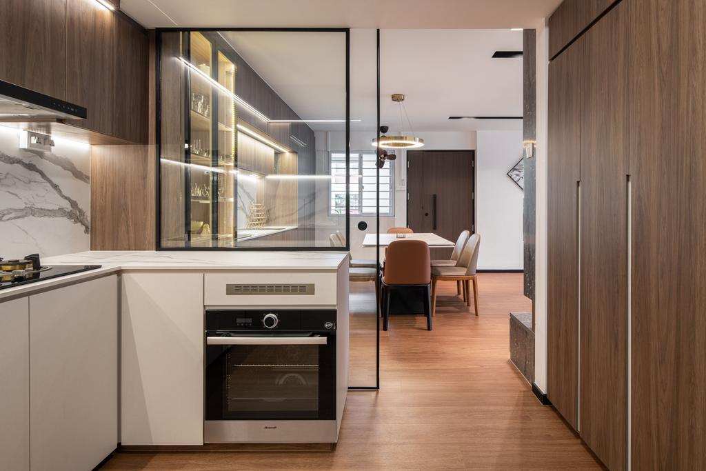 Contemporary, HDB, Kitchen, Hougang Avenue 1, Interior Designer, Mr Designer Studio