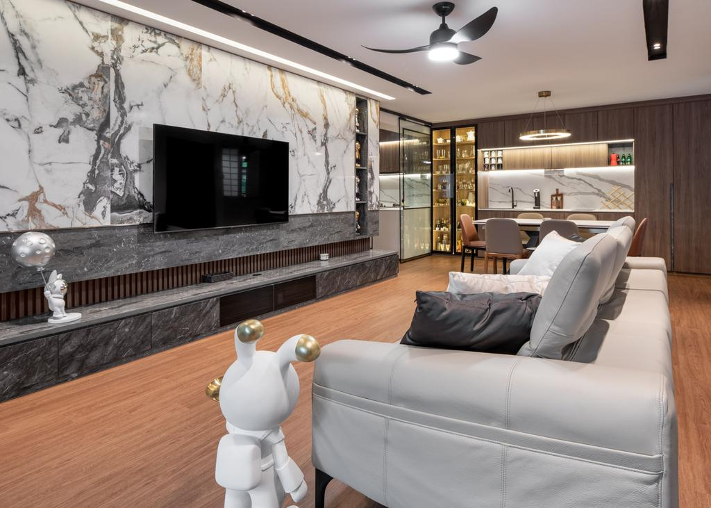 Contemporary, HDB, Living Room, Hougang Avenue 1, Interior Designer, Mr Designer Studio