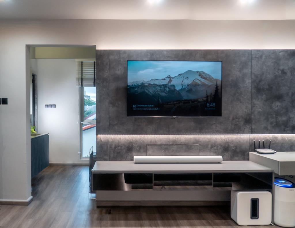 Contemporary, Landed, Living Room, Springwood Walk, Interior Designer, Kingsley Interior