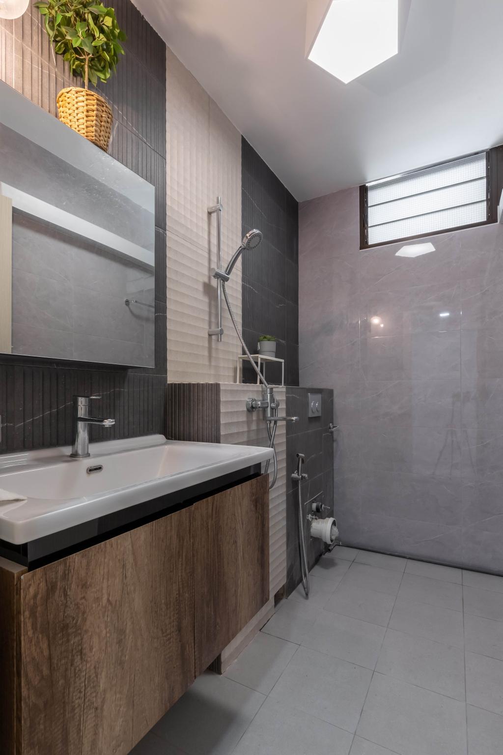Scandinavian, HDB, Bathroom, Tampines Street 72, Interior Designer, Design Story, Contemporary