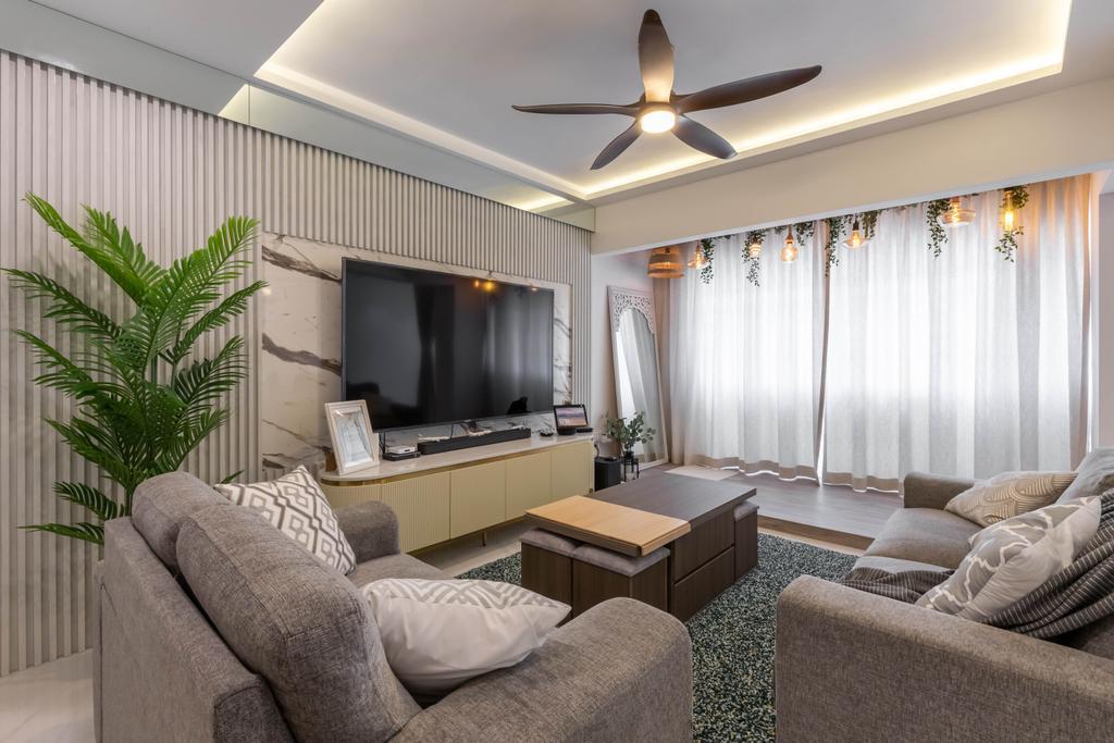 Scandinavian, HDB, Living Room, Tampines Street 72, Interior Designer, Design Story, Contemporary