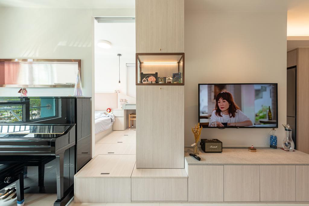 摩登, 公屋/居屋, 客廳, 錦暉苑, 室內設計師, Deco Farmer Studio