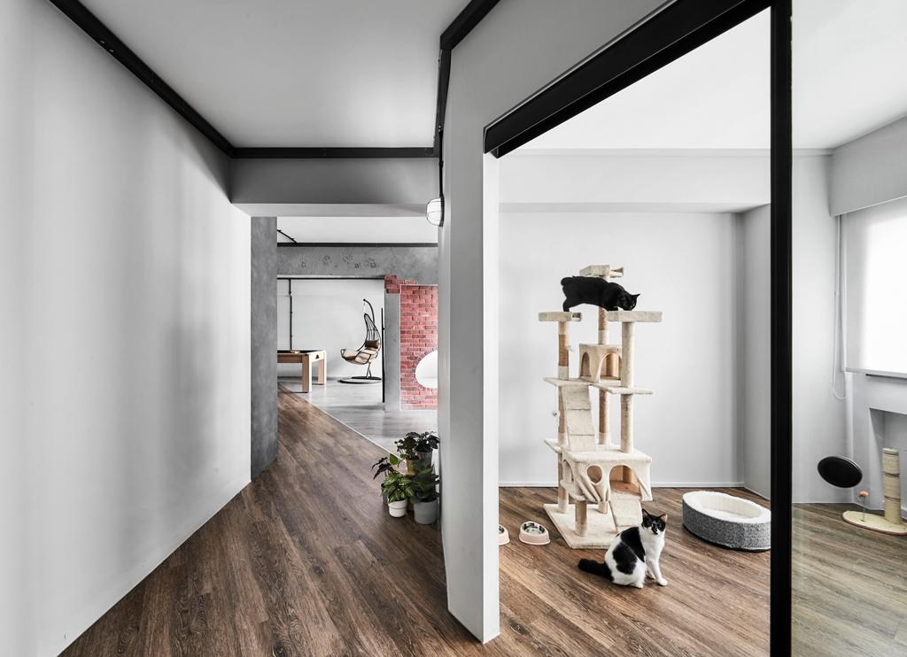 Industrial, HDB, Corporation Drive, Interior Designer, Notion of W, Contemporary